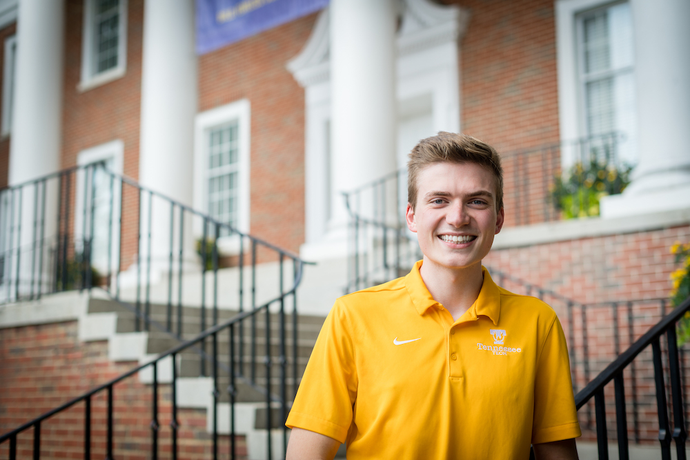 "Purple and gold runs in the Sells family. Brad Sells, Student Government Association president and biology/health sciences '20, watched his older brother grow into a strong leader as a Golden Eagle and knew he wanted that same experience.   Sells' brother served as SGA president during his time at Tennessee Tech, and after seeing the impact through him, Sells knew he wanted to study at Tech too.  ""This is my fourth year of serving in student government,"" Sells said. ""I began my freshman year as a freshman senator, then I was appointed to secretary of external affairs. From there, I served as student body vice-president and then had an amazing team behind me who helped me with student body president.""  Being student body president has its fun aspects as well, such as working with administration and faculty, serving on committees, and planning the SOLO concert and I Heart Tech week.  ""My vision for Tennessee Tech students this year is that they know that people are in their corner to help them out and there is always going to be a voice for them,"" Sells said.  Sells and his team not only strive to be the voice for students, but to foster inclusivity and provide insight on what SGA does.  ""I want people to have the most amazing experience because thankfully, I have had an incredible one.""  Passing his own positive experiences on to others is something Sells plans to continue to do beyond his work as a student leader as well.   When Sells was 14, he underwent foot surgeries that caused him to miss 18 months of school. During his time in the hospital, he cultivated relationships with nurses and doctors who helped take care of him.  ""I knew if I could pass that same kind of experience on to one more person, that would be enough for me,"" he said. ""So that's what's really kept me going these four years.""  Although he is enjoying his last year as a Tech student, he plans to attend physician's assistant school after graduation to help people in any way he can."